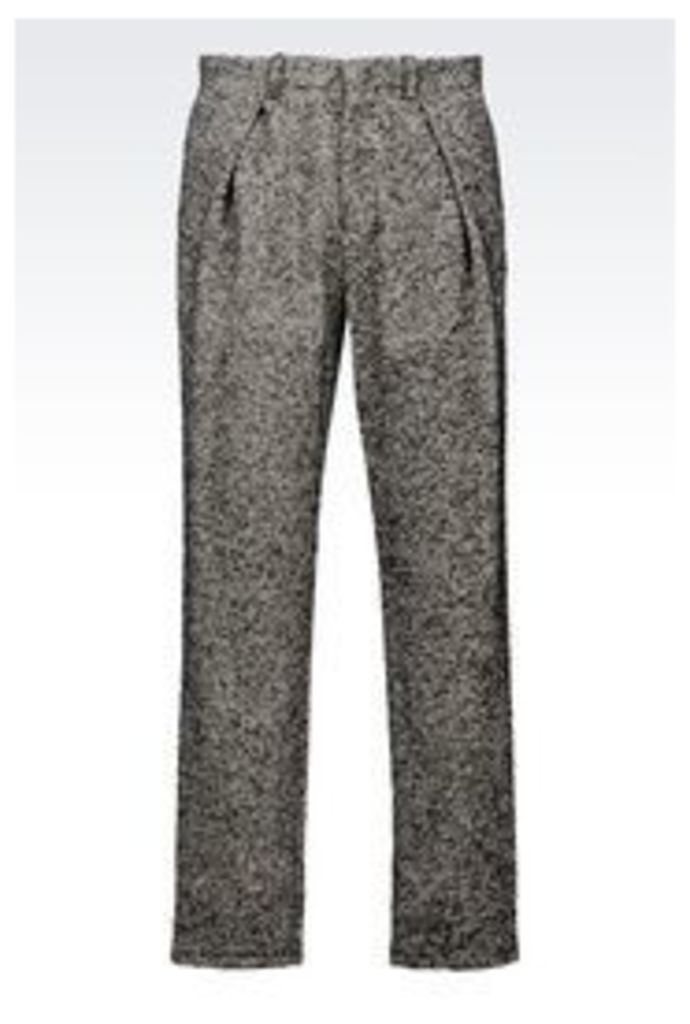 OFFICIAL STORE EMPORIO ARMANI RUNWAY TROUSERS IN COTTON BLEND