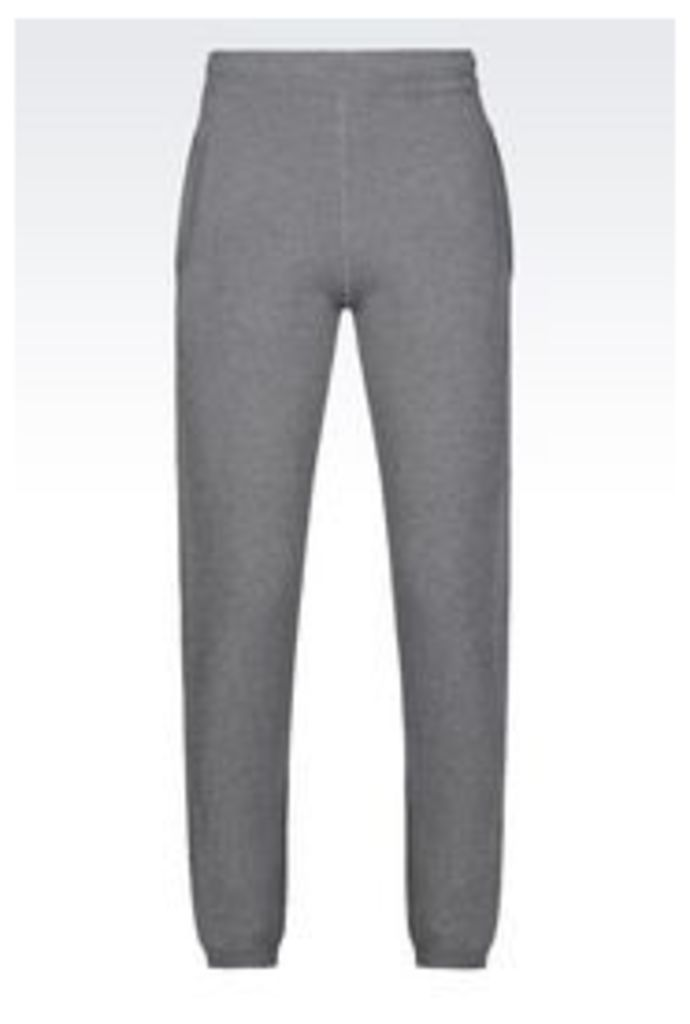 OFFICIAL STORE EMPORIO ARMANI TRACKSUIT TROUSERS IN WOOL