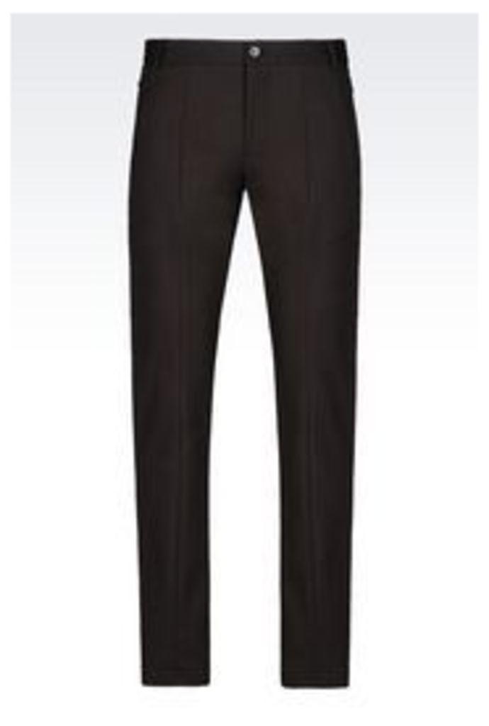 OFFICIAL STORE EMPORIO ARMANI TROUSERS IN STRETCH SATIN