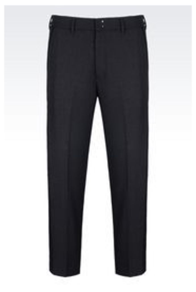 OFFICIAL STORE EMPORIO ARMANI TROUSERS IN WOOL