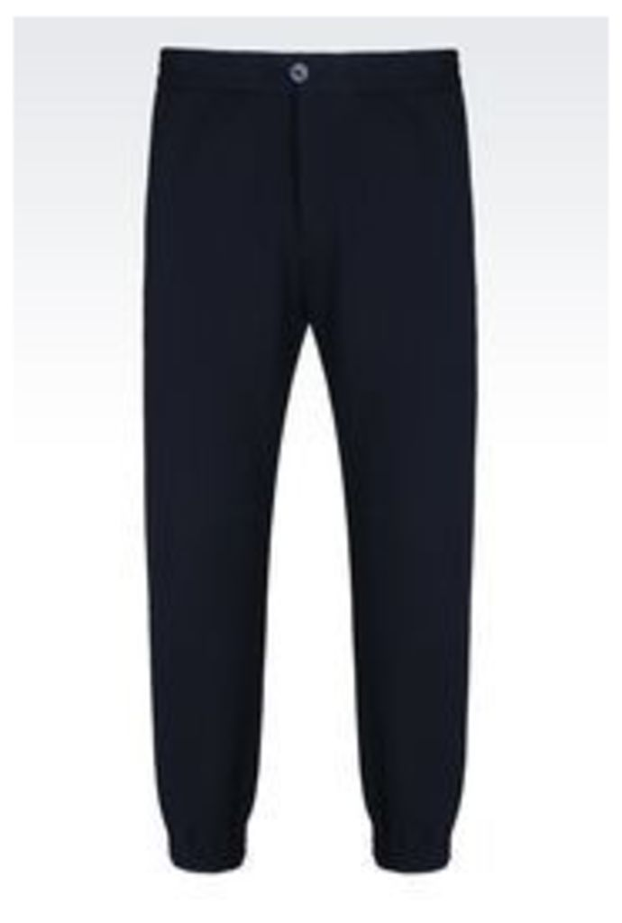 OFFICIAL STORE EMPORIO ARMANI TRACKSUIT TROUSERS IN CASHMERE EFFECT