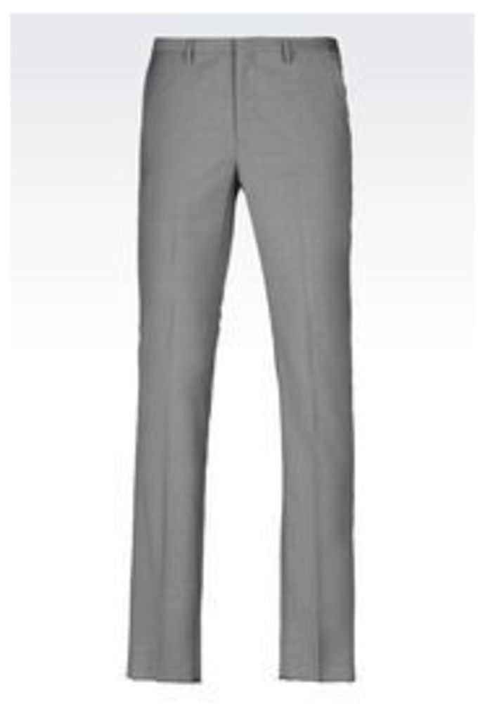 OFFICIAL STORE EMPORIO ARMANI VIRGIN WOOL TROUSERS