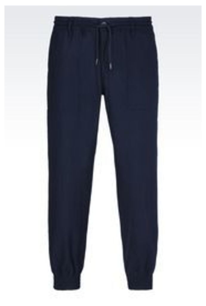 OFFICIAL STORE ARMANI JEANS REGULAR FIT TROUSERS IN WOOL BLEND