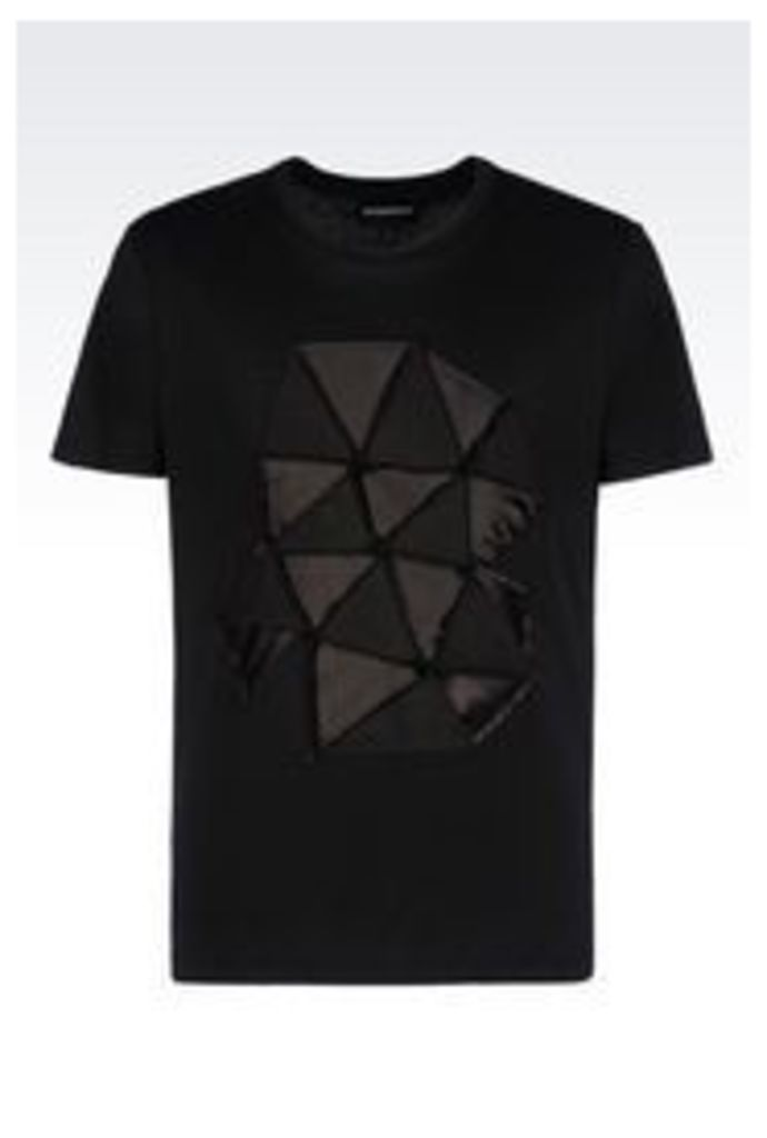 OFFICIAL STORE EMPORIO ARMANI RUNWAY T-SHIRT IN BROADCLOTH