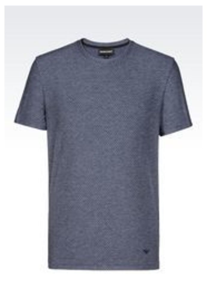 OFFICIAL STORE EMPORIO ARMANI T-SHIRT IN JACQUARD