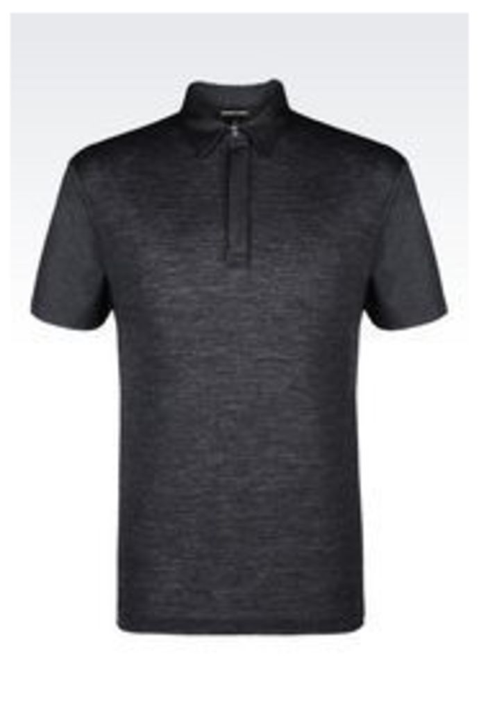 OFFICIAL STORE EMPORIO ARMANI POLO SHIRT IN JERSEY AND PIQUE