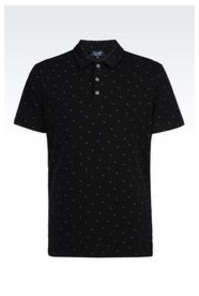 OFFICIAL STORE ARMANI JEANS POLO SHIRT IN COTTON PIQUE