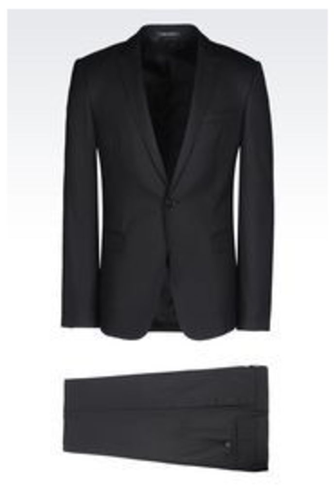OFFICIAL STORE EMPORIO ARMANI SLIM FIT SUIT IN VIRGIN WOOL