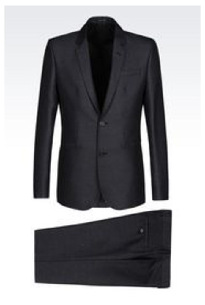 OFFICIAL STORE EMPORIO ARMANI SUIT IN WOOL BLEND