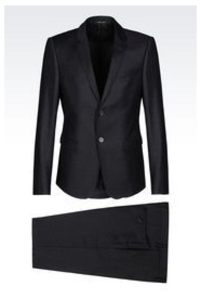 OFFICIAL STORE EMPORIO ARMANI SUIT IN WORSTED WOOL