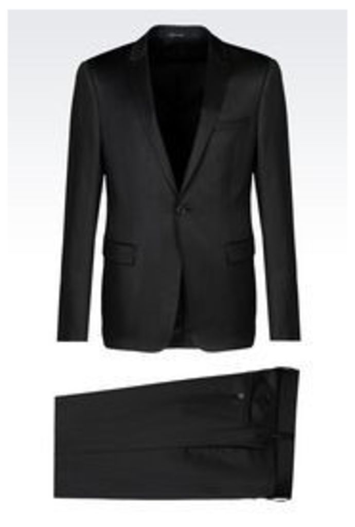 OFFICIAL STORE EMPORIO ARMANI SUIT IN STRETCH WOOL SATIN