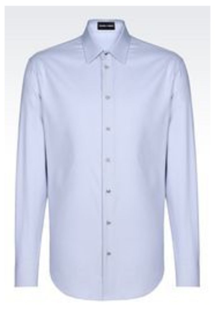 OFFICIAL STORE EMPORIO ARMANI SLIM FIT SHIRT IN WOVEN COTTON