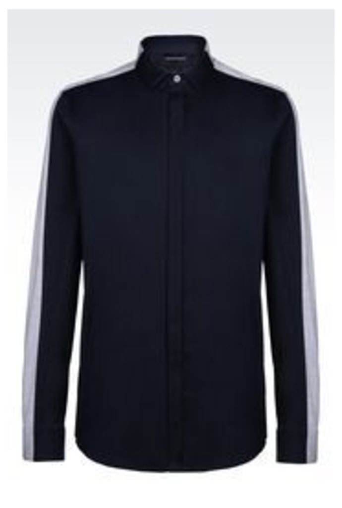 OFFICIAL STORE EMPORIO ARMANI SHIRT IN POPLIN