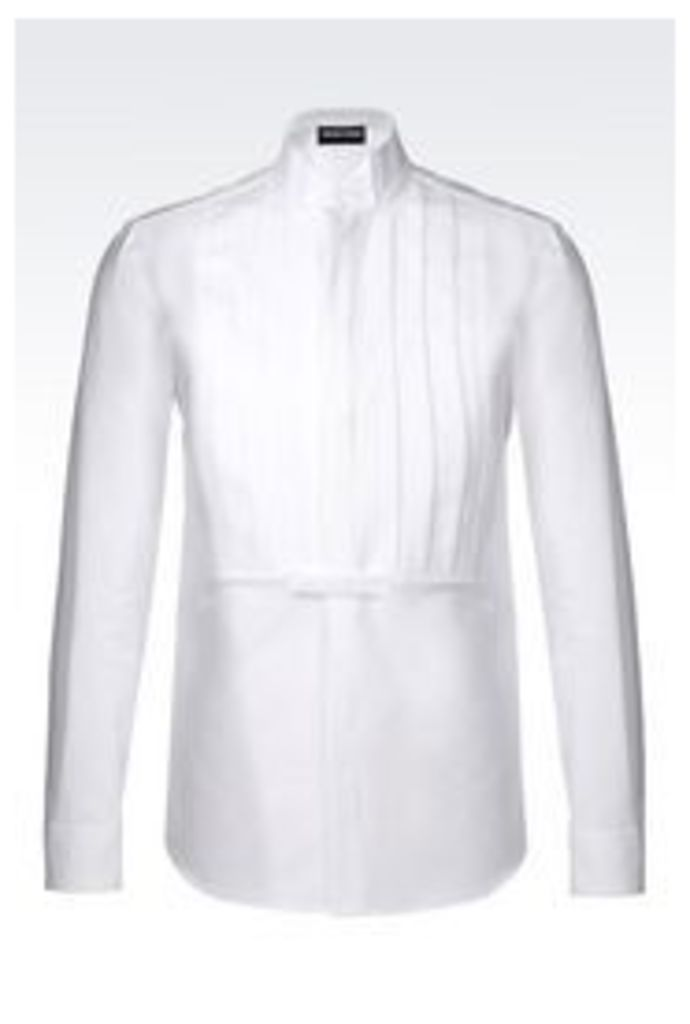 OFFICIAL STORE EMPORIO ARMANI RUNWAY DINNER SHIRT IN COTTON