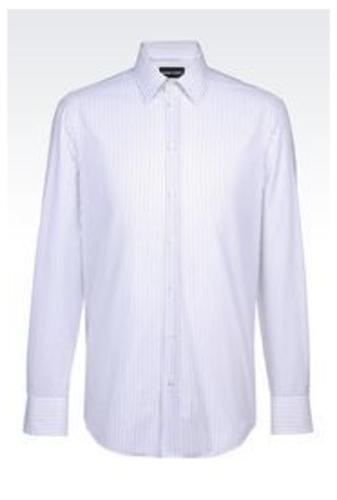 OFFICIAL STORE EMPORIO ARMANI REGULAR FIT SHIRT IN COTTON