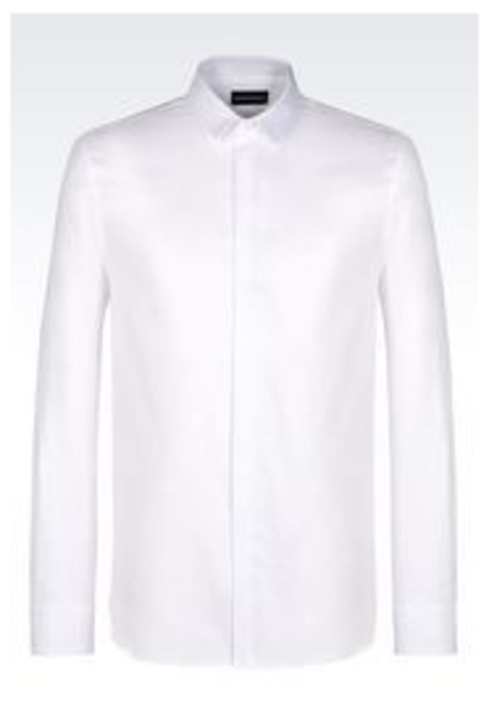 OFFICIAL STORE EMPORIO ARMANI COTTON SHIRT