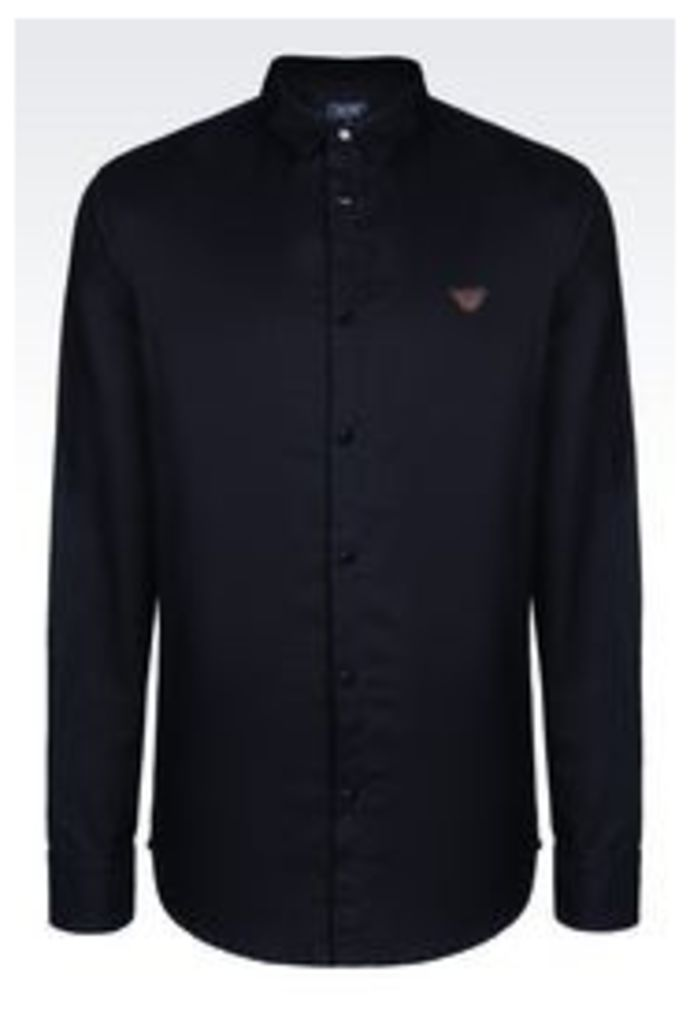 OFFICIAL STORE ARMANI JEANS SHIRT IN COTTON FLANNEL