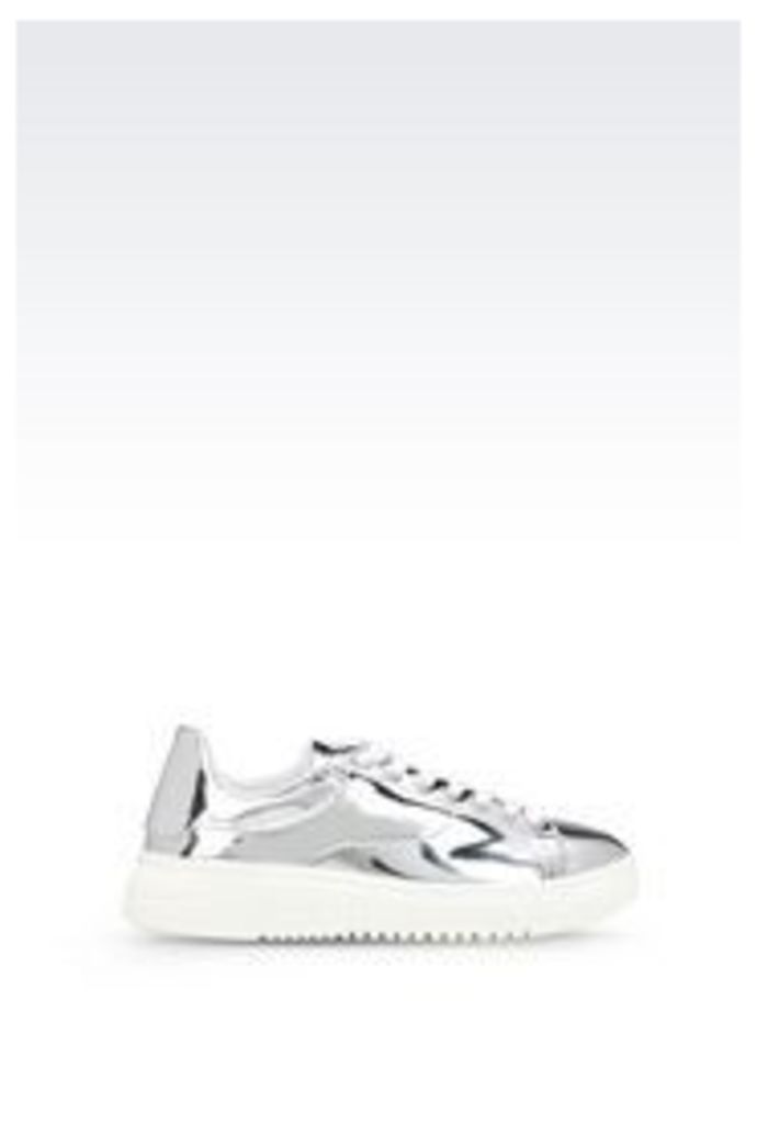 OFFICIAL STORE EMPORIO ARMANI TWO-COLOUR SNEAKER