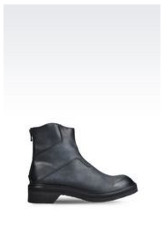 OFFICIAL STORE EMPORIO ARMANI CALFSKIN ANKLE BOOT