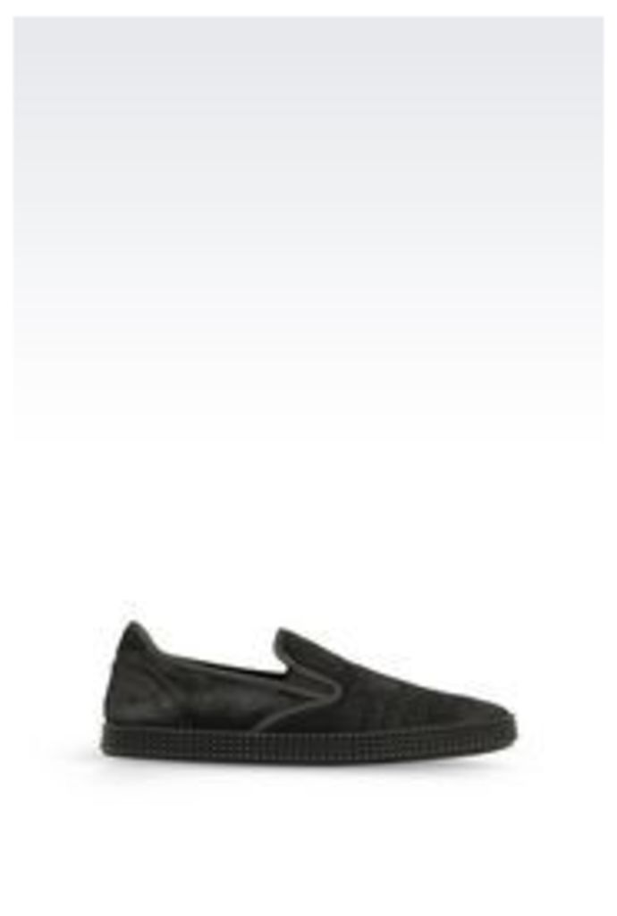 OFFICIAL STORE EMPORIO ARMANI SLIP-ON IN PONY SKIN