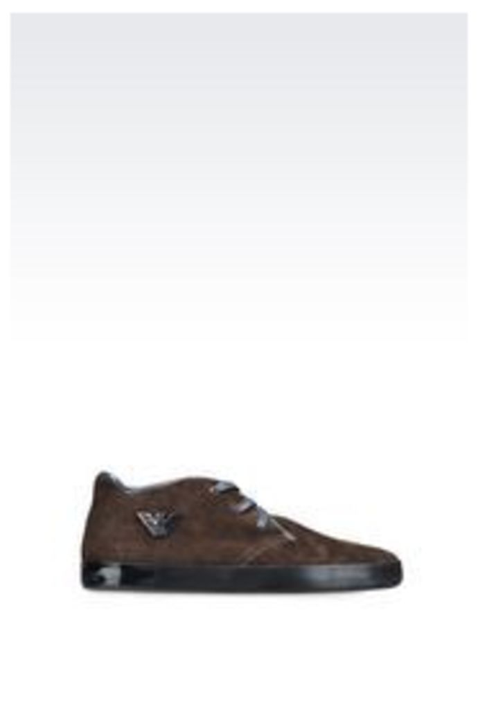 OFFICIAL STORE EMPORIO ARMANI HIGH-TOP SNEAKER IN SUEDE