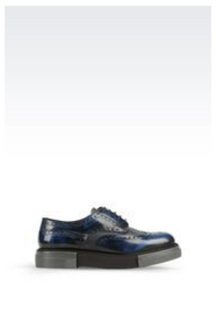 OFFICIAL STORE EMPORIO ARMANI DERBY IN BRUSHED CALFSKIN