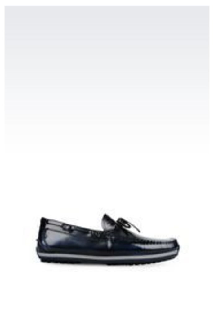 OFFICIAL STORE EMPORIO ARMANI DRIVING SHOE IN BRUSHED CALFSKIN