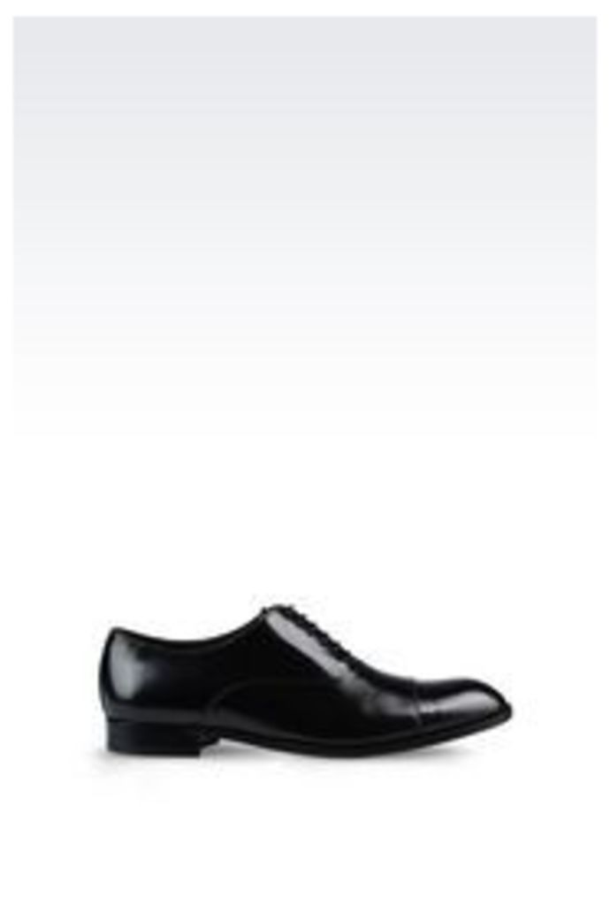 OFFICIAL STORE EMPORIO ARMANI BROGUE IN BRUSHED CALFSKIN