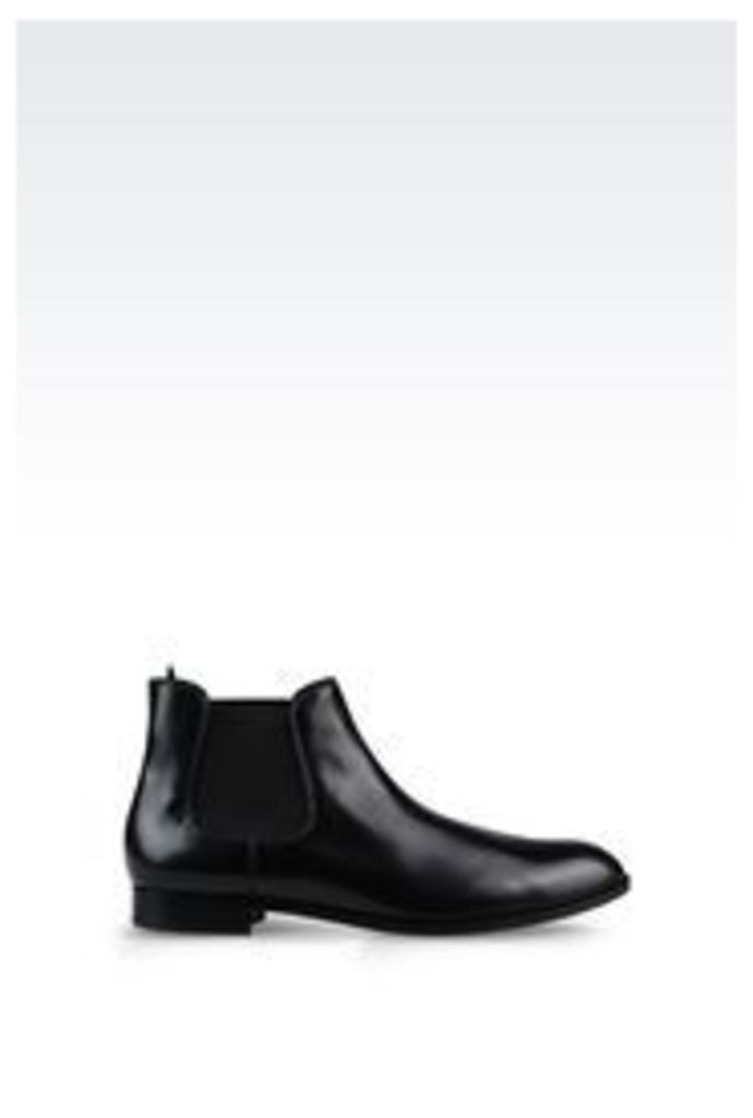 OFFICIAL STORE EMPORIO ARMANI DEMI BOOT IN BRUSHED CALFSKIN