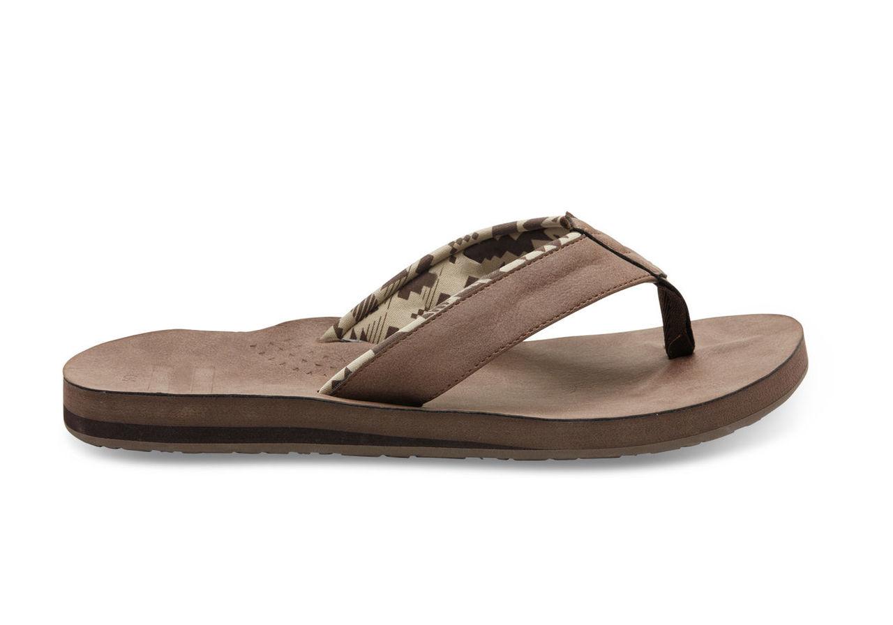 Brown Men's Carilo Flip Flops