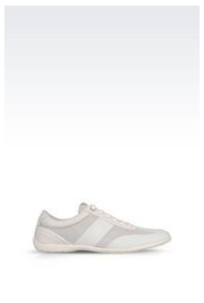 OFFICIAL STORE ARMANI JEANS CLASSIC SNEAKER IN LEATHER WITH LOGO