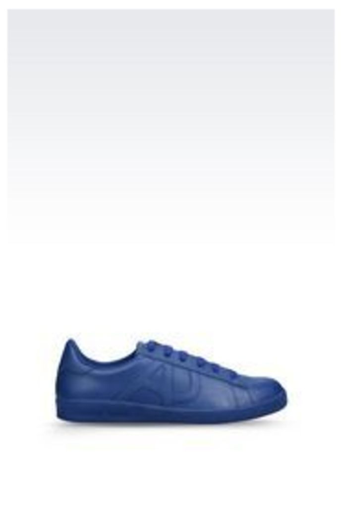 OFFICIAL STORE ARMANI JEANS SNEAKER IN LEATHER WITH LOGO