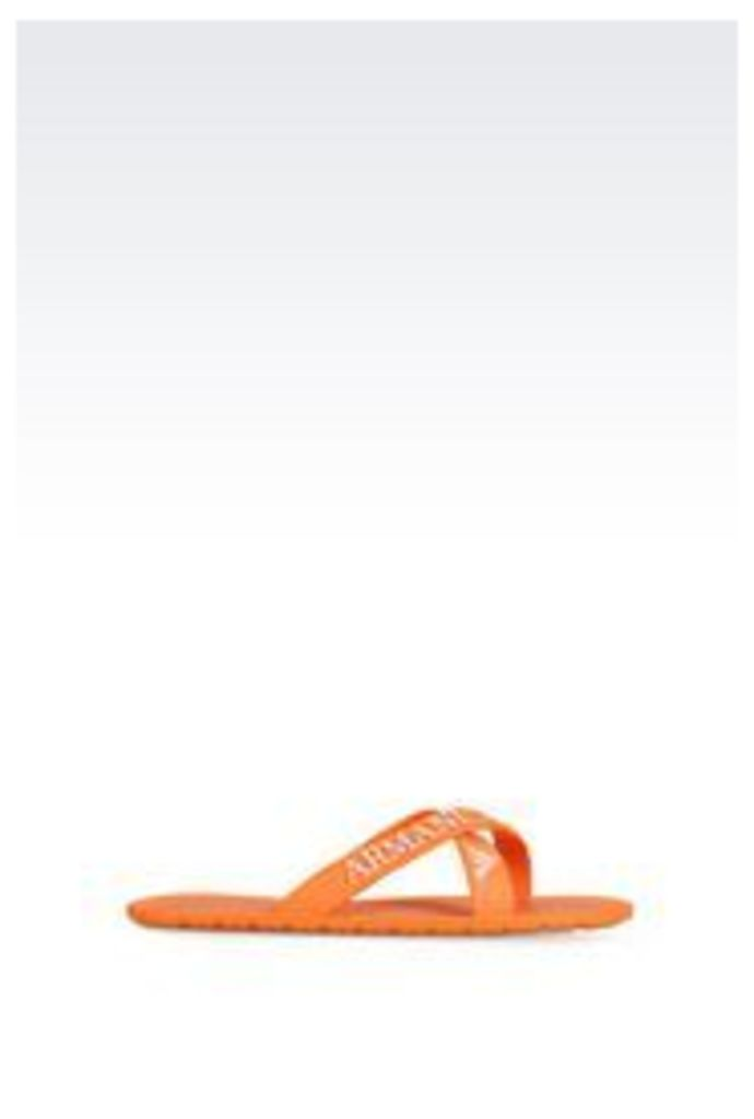 OFFICIAL STORE ARMANI JEANS FLAT SHOE IN PVC WITH LOGO