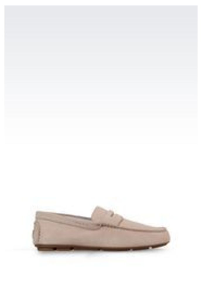OFFICIAL STORE ARMANI JEANS SUEDE LOAFER