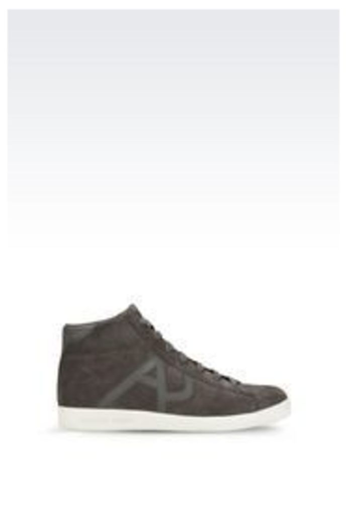 OFFICIAL STORE ARMANI JEANS HIGH-TOP SUEDE SNEAKER