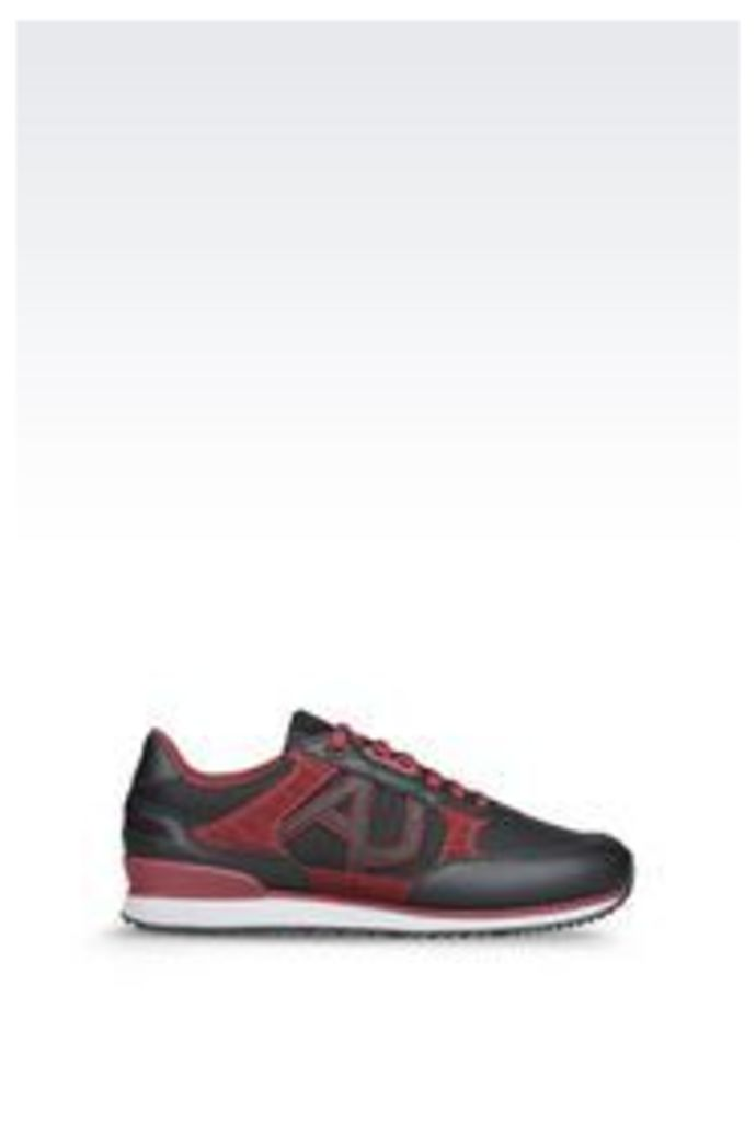 OFFICIAL STORE ARMANI JEANS SNEAKER IN SUEDE AND TECHNICAL FABRIC