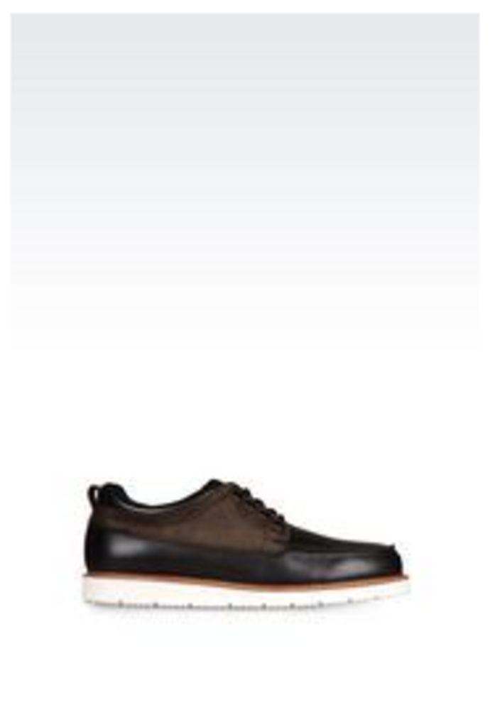 OFFICIAL STORE ARMANI JEANS LEATHER LACE-UP