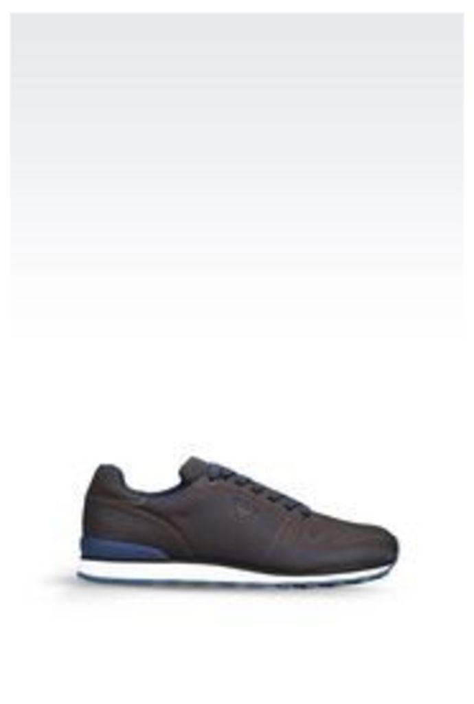 OFFICIAL STORE ARMANI JEANS SNEAKER IN JACQUARD FABRIC