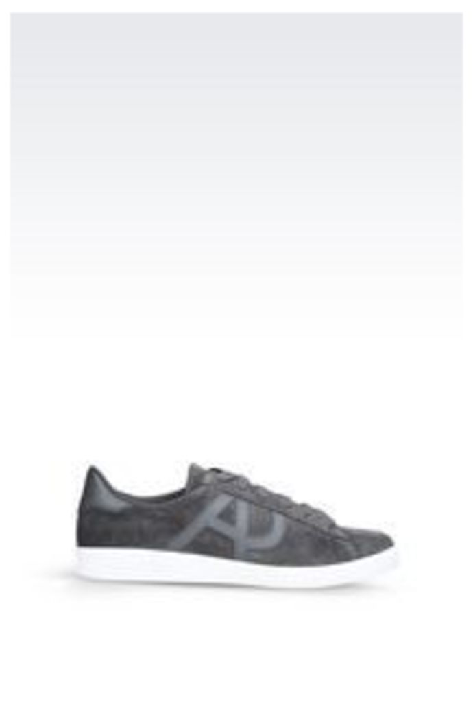 OFFICIAL STORE ARMANI JEANS SUEDE SNEAKER