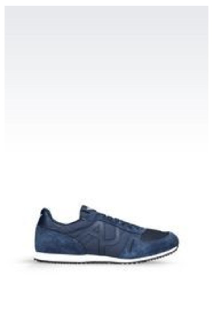 OFFICIAL STORE ARMANI JEANS SNEAKER IN TECHNICAL FABRIC