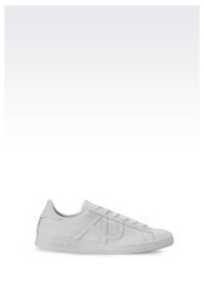 OFFICIAL STORE ARMANI JEANS LEATHER SNEAKER