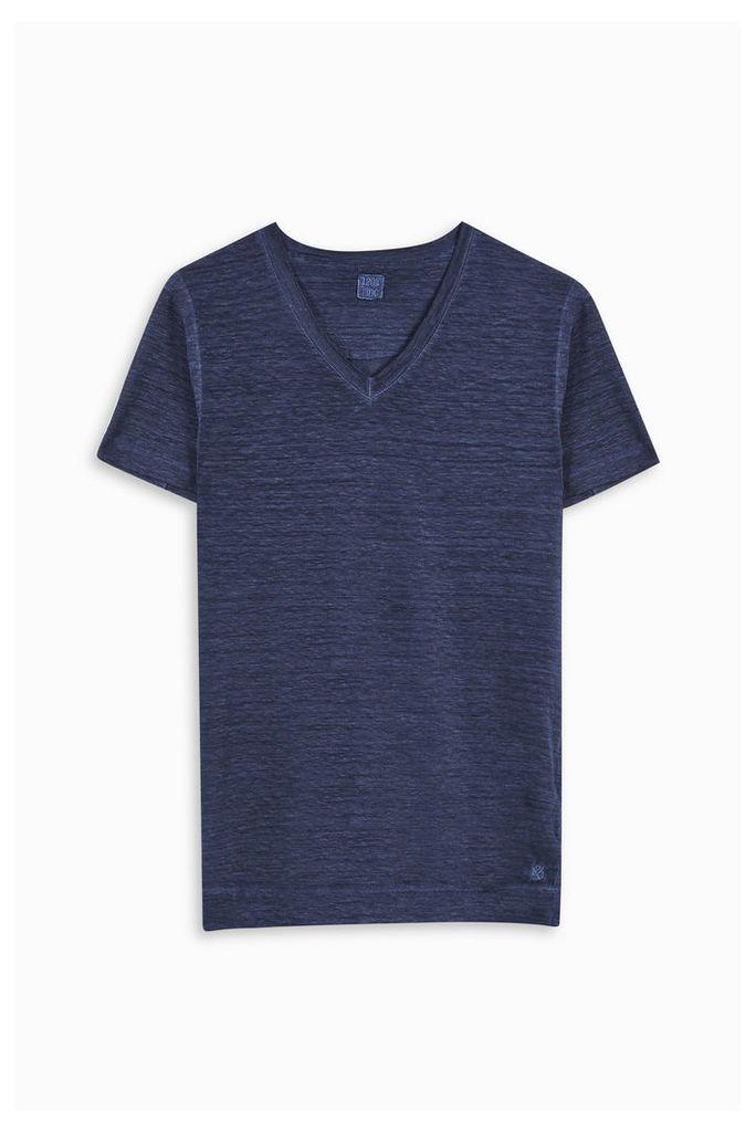 120% Lino Men`s V-neck T-shirt Boutique1