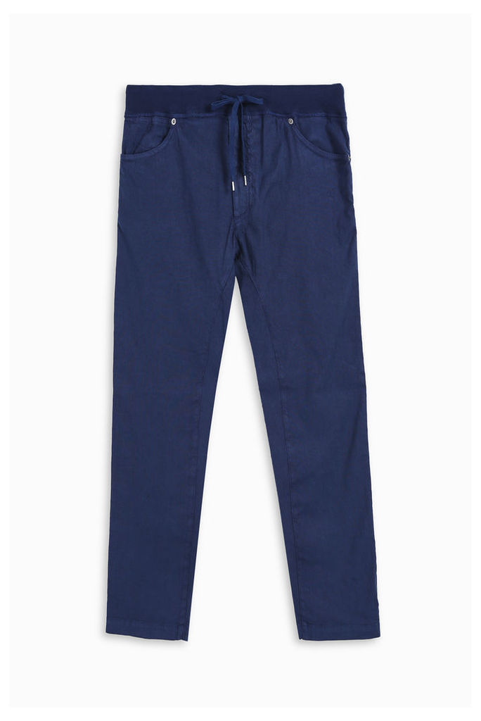 120% Lino Men`s Tapered Linen Trousers Boutique1