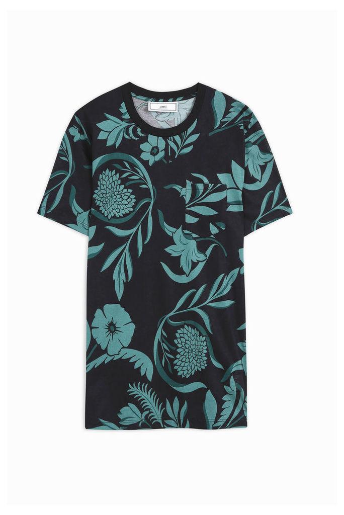 Ami Alexandre Mattiussi Men`s Floral Jersey T-shirt Boutique1