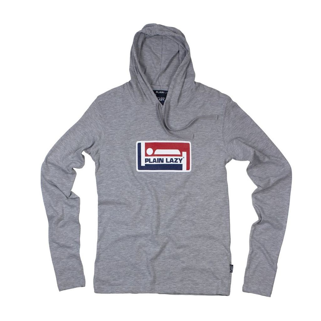 CHAMPION LONG-SLEEVED HOODED T SHIRT