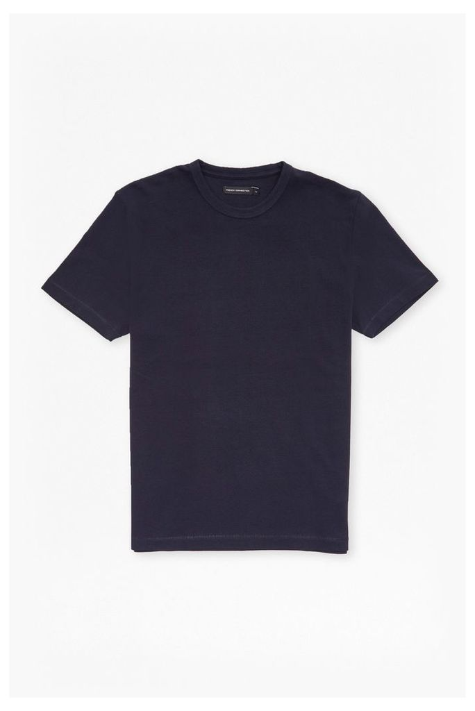 PIQUE CREW NECK T-SHIRT - White