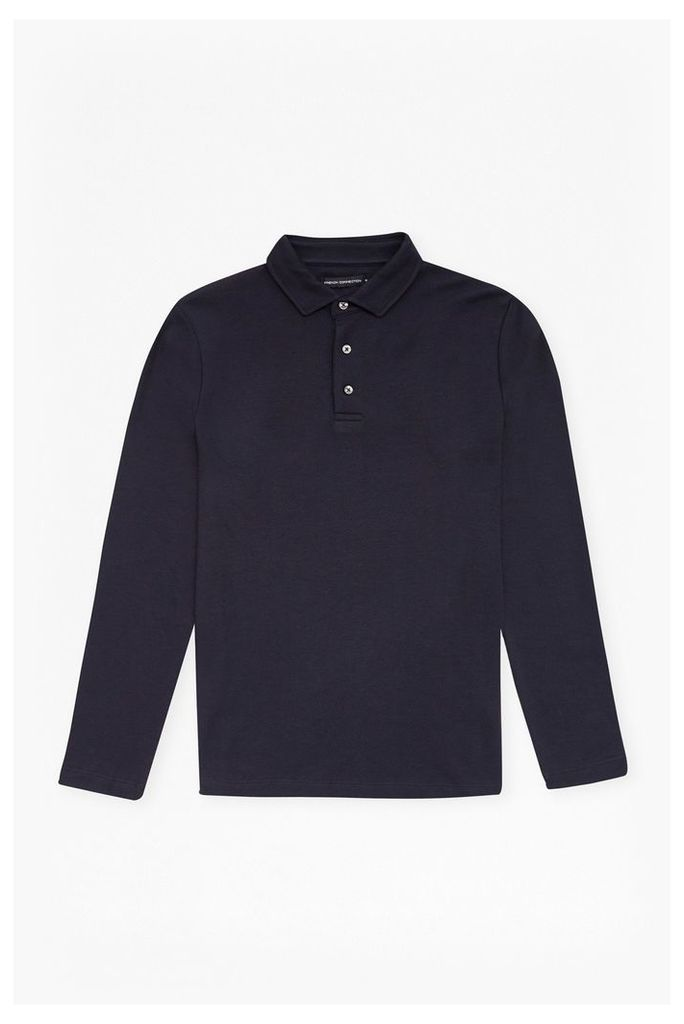 CENTRAL CREPE LONG SLEEVES TOP - Navy