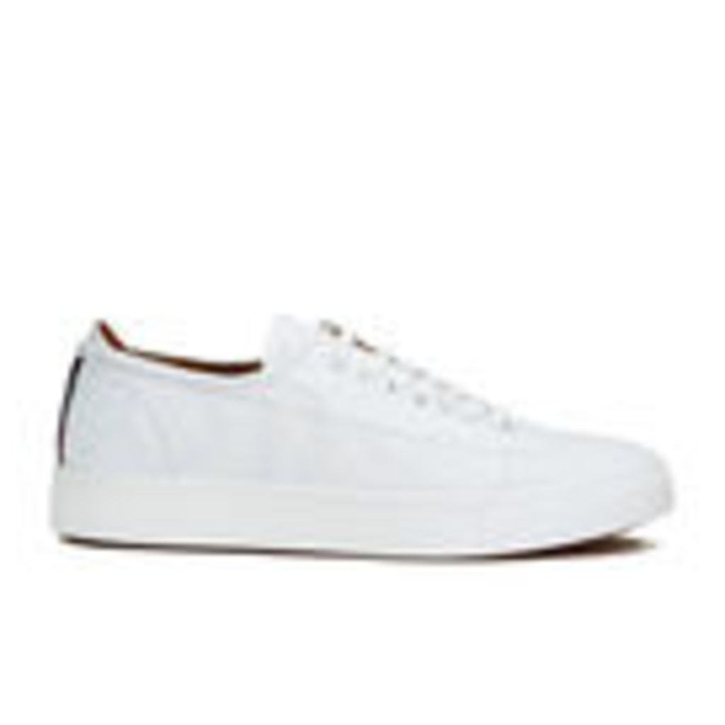 Vivienne Westwood MAN Men's Embossed Squiggle Leather Oxford Trainers - White - UK 10