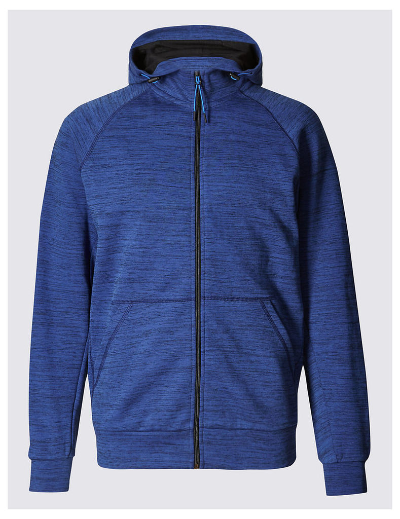 M&S Collection Textured Active Hooded Top