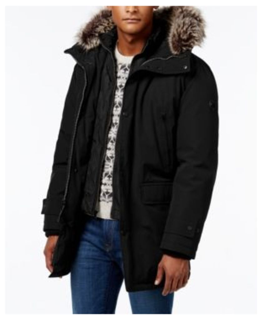 Michael Kors Men's Big & Tall Hooded Bib Snorkel Coat